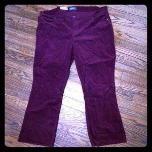 Old Navy Burgundy Corduroy Jeans size 18